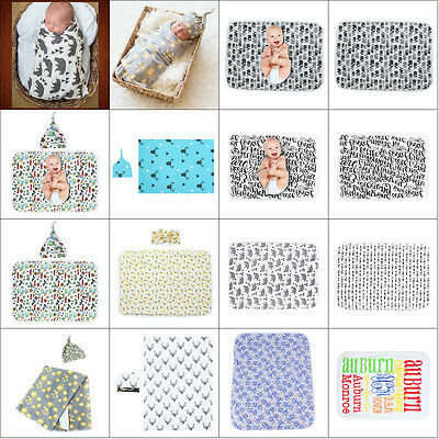 Newborn Baby Soft Warm Cotton Swaddle Blanket Bath Suits Swaddling Wrap Blankets