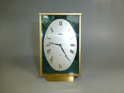 Vintage ANGELUS Swiss Mechanical Wind Up 8 Day Alarm Clock     (WATCH THE VIDEO)