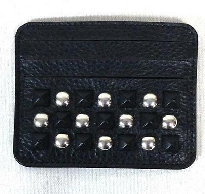 $150 Diesel men's black leather embellished Soft CC card/money holder