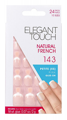 Elegant Touch Natural French Ongles -143 Petite Rosée Taille XS