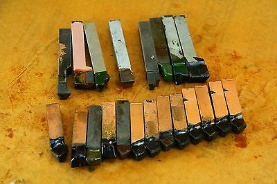 "LOT OF 21 MIXED  Brazed Carbide Tip Lathe TOOL BITS   1/2"" X 1/2"""