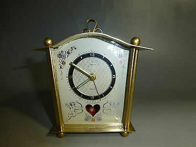 Rare Vintage German Mantel Pendulum Alarm Clock Newly Serviced ( Watch Video )