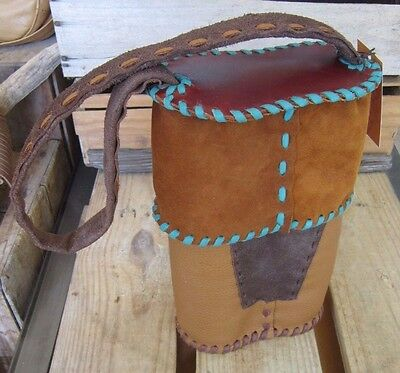 Handmade Genuine Leather 2-bottle Wine Bag Carrier Made in WI, USA  Alma Leather