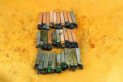 "LOT OF 31 MIXED  Brazed Carbide Tip Lathe TOOL BITS   3/8"" X 3/8""    2-1/2"" LONG"