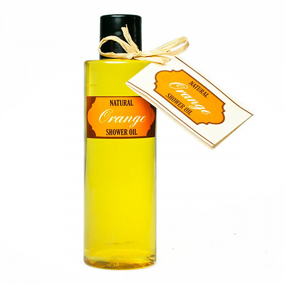 huile de douche; natural shower oil with orange oil (200 ml) and no soap!