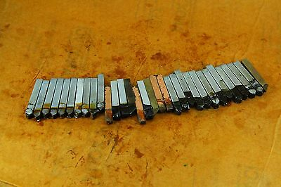 "LOT OF 32 MIXED  Brazed Carbide Tip Lathe TOOL BITS  5/16"" X 5/16""   2-1/4"" LONG"