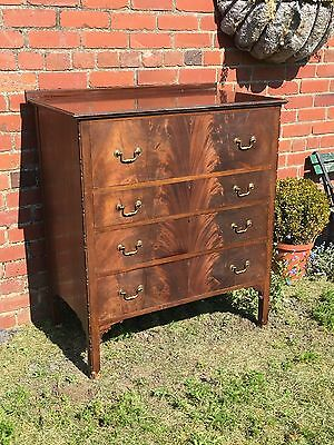 Antique/ Vintage Mahogany Flame Chest Of Drawers