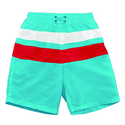 Iplay MOD Ultimate Block Board Shorts Aqua/Red/White Size L (12 18 Mois) Sun Pro