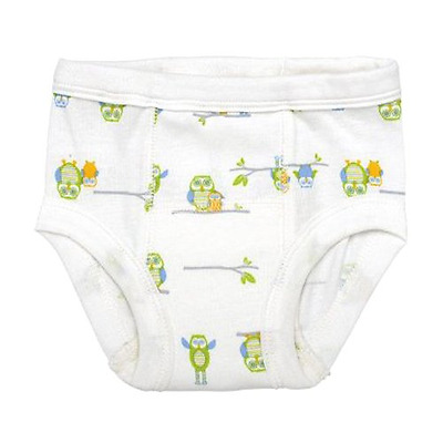 Green sprouts réutilisable Bio Formation pantalons (Large, Blanc, Lot de 2)