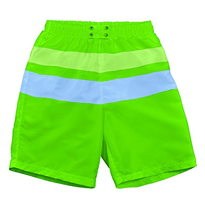 Iplay MOD Ultimate Block Board Shorts Light Lime/Blue Size S (0 6 Mois) Sun Prot