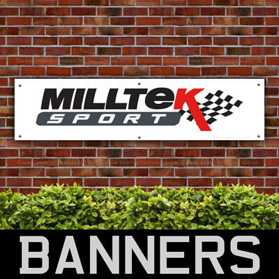 Milltek Sport Performance Racing PVC Banner Garage Workshop Sign (BANPN00098)