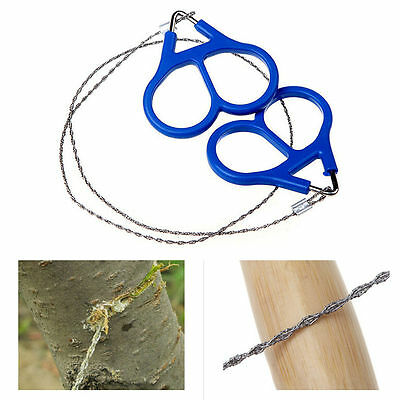 Gear Hiking Wire Saw Travel Survival Stainless Steel Camping Emergency