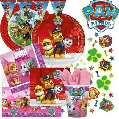 Paw Patrol Birthday Party Tableware Boys Girls Decorations Puppy Celebration
