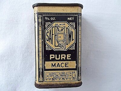 Vintage Safe Owl Pure Mace Spice Tin Brooklyn New York