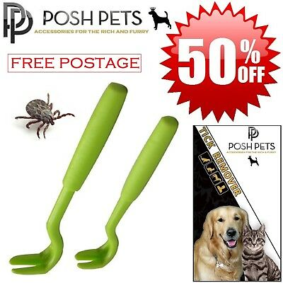 DOG CAT HUMAN TICK REMOVER REMOVAL TWISTER TOOL No.1 Tick Treatment 2 HOOK Pack