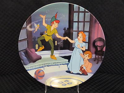 "Knowles Disney Treasured Moments PETER PAN Limited Edition 8.25"" Plate w/CoA"