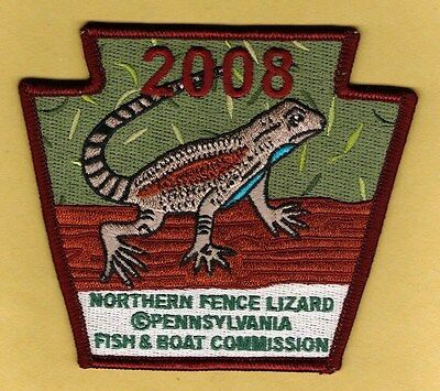 PA Pennsylvania Fish Commission NEW 2008 Northern Fence Lizard embroidered patch
