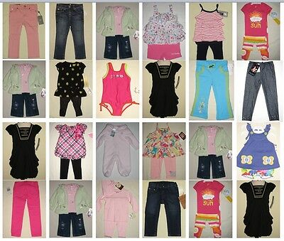 NWT 125 Infant Todder Girl Top Shirt Short Pant Jean Resale Lot NB to 4T NEW