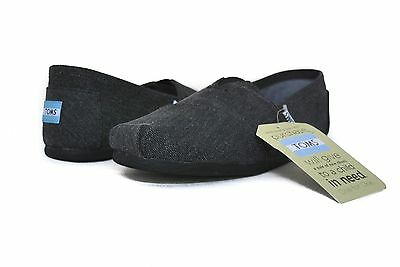 TOMS Men Classic Black Canvas Washed Slip on 10008355 Sz 8-12