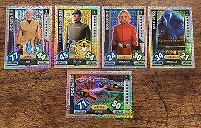 Star Wars - Force Attax 2017 (TOPPS collector cards) 5 x Hologram Foil Inserts