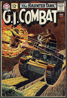 G.I. COMBAT  91  VG+/4.5  -  1st Haunted Tank cover!