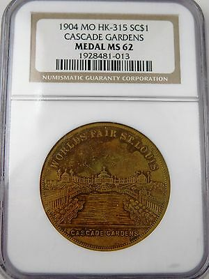 1904 Hk-315 Bu Unc So-Called Dollar Ngc Ms62 Worlds Fair St Louis