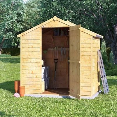 Wooden Garden Shed Storage Tool Bike Wood Outdoor Storer Patio Apex Roof Timber