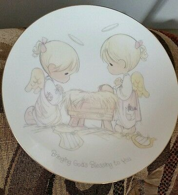 bringing God's blessing to you Precious Moments 1985 plate