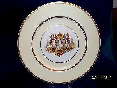 1939 Johnson Brothers  King George Vi / Queen Elizabeth Visit Canada /usa Plate