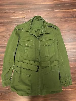 1963 Rare Us Army Canadian Forces Bush Military Officer Safari Field Jacket Belt