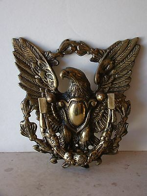 "Vintage Brass Eagle Door Knocker  7 3/4""Tall   Marked YS-D 101A  Made in Japan"