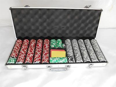 Professional CASINO POKER CHIPS Gambling w/ Storage Case Gamblers Texas Hold Um