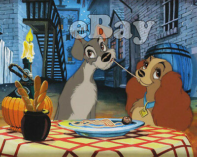 Rare! WALT DISNEY'S LADY AND THE TRAMP Cartoon Color 8 X 10 Photo