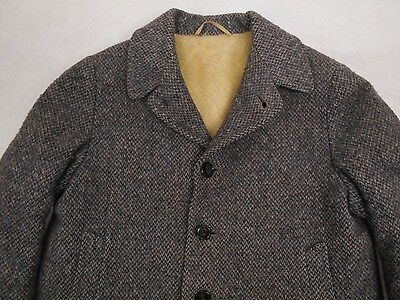 Vintage BOYS Toddler WOOL COAT Quilted Fleece Lining Measurements  1960s