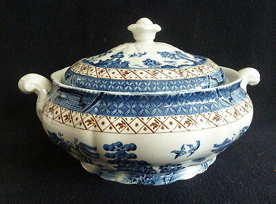 Booths Real Old Willow Blue & White China Tureen / Handled Serving Dish