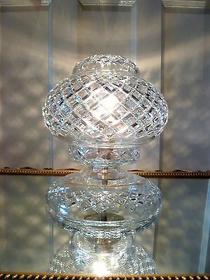 Genuine~Vintage~Cut~Crystal~Boudoir~French~Chic~Table~Lamp~Light
