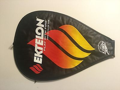 "NEW Genuine EKTELON Tennis Racquet w/ Clear Back COVER ONLY sz 17.5"" x 12"""