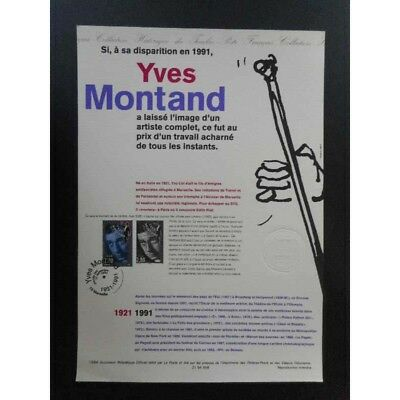 Document officiel - Yves Montand