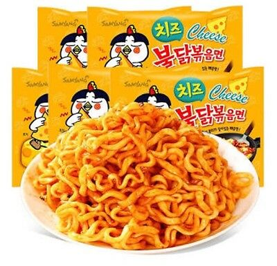 Samyang Nuclear Cheese Hot Spicy Chicken Ramen Noodles 5 Packs Korean Noodle