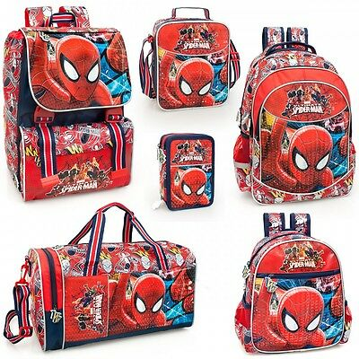 Spider Man PREMIUM Backpack Rucksack Lunch Bag Back to School Kids Marvel Bags
