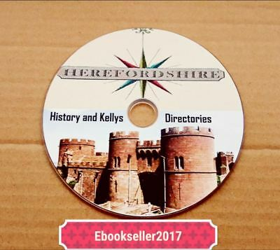 Local history, of Herefordshire genealogy 40 ebooks & Kellys directories on disc