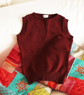 LIST wool vest gilet bordeaux Made in Italy - Size 2