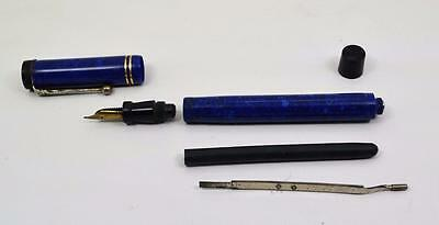 Rare Parker Valentine? fountain pen restoration blue lapis 30 1943 14 ct