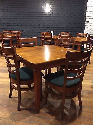 Restaurant Solid Timber Tables And Chairs.  21 Tables and 72 Chairs available