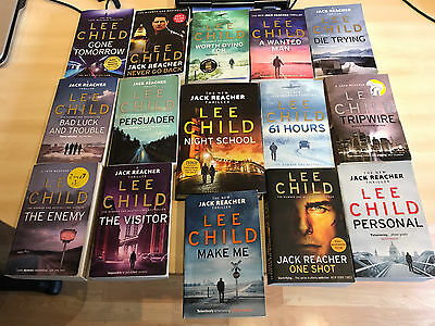 Lee Child books Jack Reacher bundle 15 books