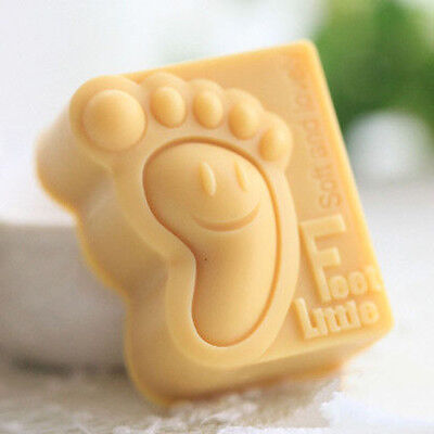 Craft Baby Feet Soap Molds Silicone Flexible Handmade Candle Resin Moulds