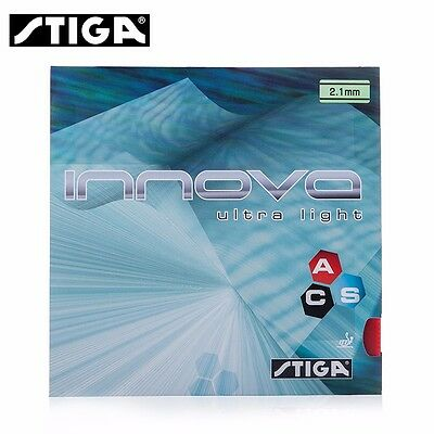 STIGA INNOVA Ultra Light Table Tennis Rubber Pips-In with Ping Pong Sponge