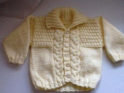 BABYS HAND KNITTED CARDIGAN 0-3 months