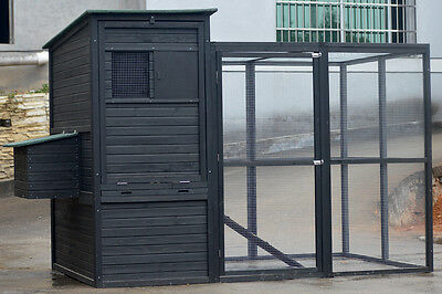 GIANT Chicken Coop with extension for up to 12 Chicken Walk in Rabbit Hutch