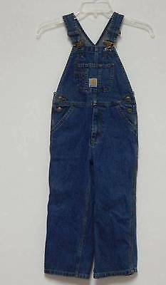 Carhartt Denim Bib Overalls Size 5 Farmer Western Kids Boys Girls Sanforized